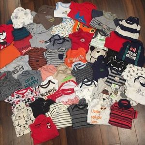 Lot if boys' 3 month onesies